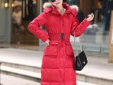 2015新款女式冬季棉衣长款大衣羽绒棉服韩版修身女装时尚潮显瘦