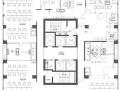 北辰整层精装带家具730平出租,地铁口,江景办公楼
