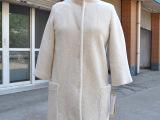 新款款女装加厚外套羊毛纯色大衣 欧洲站时尚气质女式外套批发