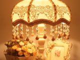 恒派 厂家批发欧式典雅蕾丝布艺台灯 卧室床头灯 混批 灯罩代加工
