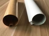 定制铝合金圆管吊顶 木纹铝圆管