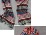 新年特价礼品横条格子围巾 儿童围巾亲子款情侣款围巾