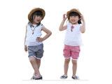 小囧人 格子儿童套装 双面穿细格子童套装批发 童装外贸原单