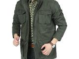 新秋款AFS JEEP中长户外纯棉休闲夹克男拉链时尚修身商务外套