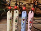 【精品供应】2014新款民族风项链 口哨手绘陶瓷男女通用项链