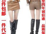 2014秋冬新款皮短裤 PU皮裤裙 性感裙裤热裤配腰带限时满5件