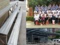 惠州哪里有大合影拍摄站人台阶集体照拍摄站架出租