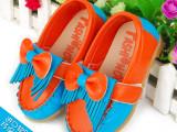 2014 秋季新款品质拼色流苏皮革拼接女童鞋童单鞋 童鞋批发W-