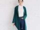2014秋装新款外套女韩国订单复古茧型宽松休闲中长款西装外套批发