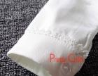 秋冬韩版女童长袖白衬衫儿童装打底衫纯棉白衬衣加绒蕾