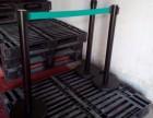 供应黑色烤漆隔离拦 银行两米线排队栏杆 警戒立柱规格 警戒杆