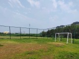 寶雞市運動球場圍網 框架隔離圍網 菱形勾花網圍欄