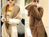 韩版孕妇装秋冬装孕妇外套加肥大码加厚毛绒外套开衫新款冬季上衣