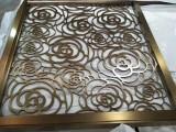 重庆酒店大堂不锈钢屏风隔断金属装饰深化按不锈钢色样镀色
