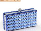 新款高级定制钻石晚宴手拿包双面进口玻璃钻包新娘伴娘派对包