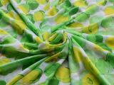 厂家批发2014春夏新品清新服装印花涤纶面料雪纺布料舒适细腻面料