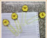 供应网络动漫小Q卡通书签 儿童回形针书签定制 书本书签