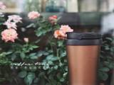 运动直身咖啡保温水杯 不锈钢提手翻扣保温咖啡杯 创意礼品定制