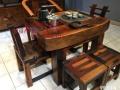 老船木茶桌茶台茶几实木家具功夫泡茶茶桌茶几船木户外阳台茶桌