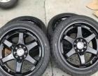 出售改装车二手17寸轮毂两套,17寸轮毂,白色/黑