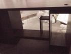 出售一只9成新长1.4米宽70时尚现代木电脑桌