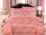 厂家直销 欧式贡缎提花全棉四件套 高档婚庆床上用品刺绣4件套
