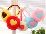 儿童爱心耳罩批发 韩版毛绒耳罩 儿童保暖心型耳暖 宝宝护耳罩