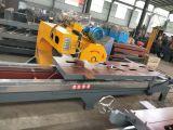 河北卖油浸轨道式石材切边机 可倒角石材加工机械 新迈