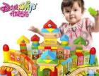 丹妮奇特 儿童动漫积木木制130粒大块 宝宝智力早教益智玩具桶装