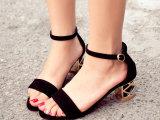 2014夏季新款凉鞋高跟粗跟凉鞋包跟女鞋高跟鞋欧美厂家批发代理