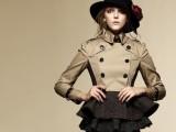 2014秋装新款B家专柜款 大牌风衣外套 双排扣短款风衣 女 批