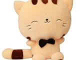 批发可爱猫咪公仔大尾巴大脸猫毛绒玩具抱枕送女友情人节礼物