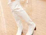 欧美潮流时尚真皮女靴马蹄跟性感女士过膝靴子小圆头女靴直销女鞋