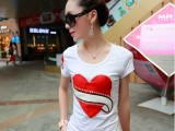 女装微信货源 夏季新款 时尚潮流 修身圆领 韩国短袖T恤女 批发