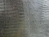 黑色PU皮革 压纹PU 动物鳄鱼纹蜥蜴纹