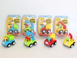 厂家直批 4款爆热品牌迷你小型卡通惯性玩具工程车 动漫 模型玩具
