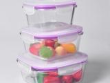 莫诺玻璃餐具 玻璃保鲜盒 可微波加热饭盒