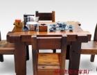 鄂州实木家具办公桌茶桌椅子老船木客厅家具沙发茶几茶台餐桌案台