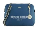 DKNY 新品压纹牛皮单肩斜挎手提链条包 外贸原单真皮时尚女包