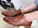 2014新款英伦男士皮鞋夏季透气布洛克鞋男鞋子韩版商务休闲鞋