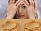 韩版 D字母 千颂伊 来自星星的你 同款 全智贤 镶钻 戒指 指环