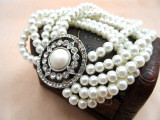 欧美外贸饰品尾单批发 原单混批 carolee多层珍珠手链