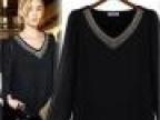 2014女装春装新款大码显瘦黑色雪纺衫上衣衬衫打底衫欧美时装