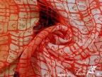 格子花日韩风双边定位印花雪纺diy手工面料服装连衣裙子围巾布料