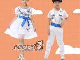 2015新款六一儿童演出服女童蓬蓬裙舞蹈服男女童青花瓷舞台表演服