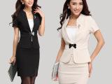 职业装女装短袖套装时尚韩版2014夏装套裙正装面试装OL小西装批