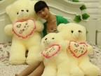 一件代发抱心熊天天好心情熊 情侣熊毛绒玩具一生有你熊 生日礼物