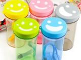 笑脸心情杯 便携防漏茶杯 带盖带绳随手水杯 运动塑料情侣杯 11