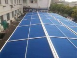 北京定做陽光房天幕戶外天幕簾全盒天幕滑軌式遮陽篷
