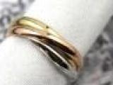 卡地亚款三环戒指、18K三色金戒指、男女戒(经典款
